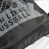 Ich liebe Fußball - Beutel Schwarz