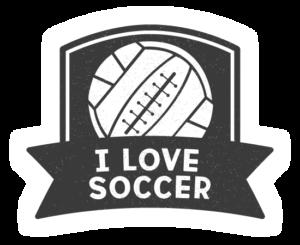 I Love Soccer Logo 2