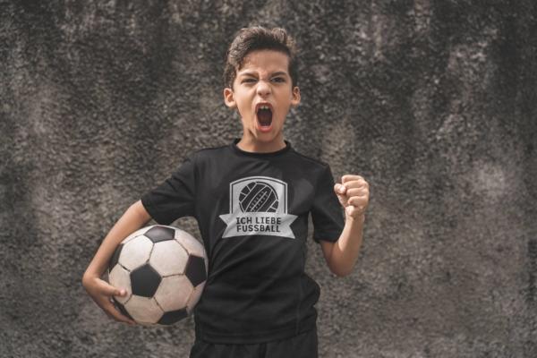 Ich liebe Fußball - T-Shirt Schwarz