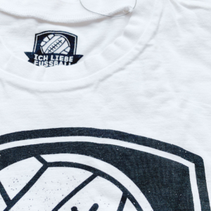 Ich liebe Fußball - T-Shirt Weiß